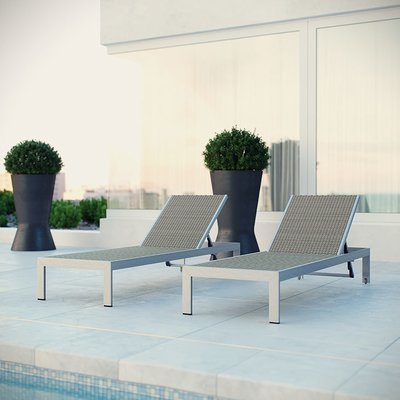 Shoreline Sun Rattan Lounger | Set of 2