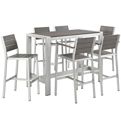 Shoreline 7 Piece Long Pub Set