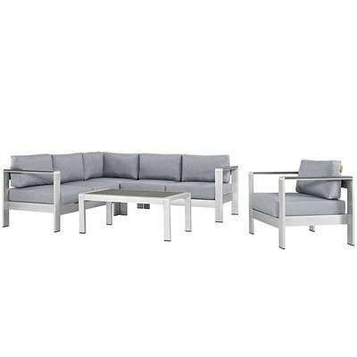 Shoreline 5 Piece Sectional Set | 4 Colors