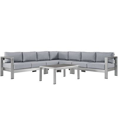 Shoreline 6 Piece Sectional Set | 4 Colors
