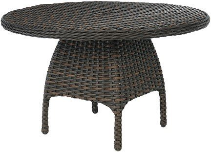 "Burnham Park Patio 48"" Round Dining Table with Glass Top"