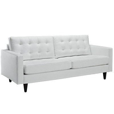 Empire Bonded Leather Sofa | Black or White