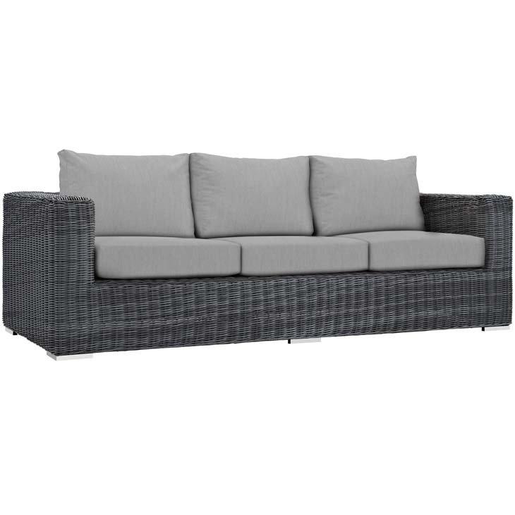 North Avenue Patio Sofa with Sunbrella Cushion