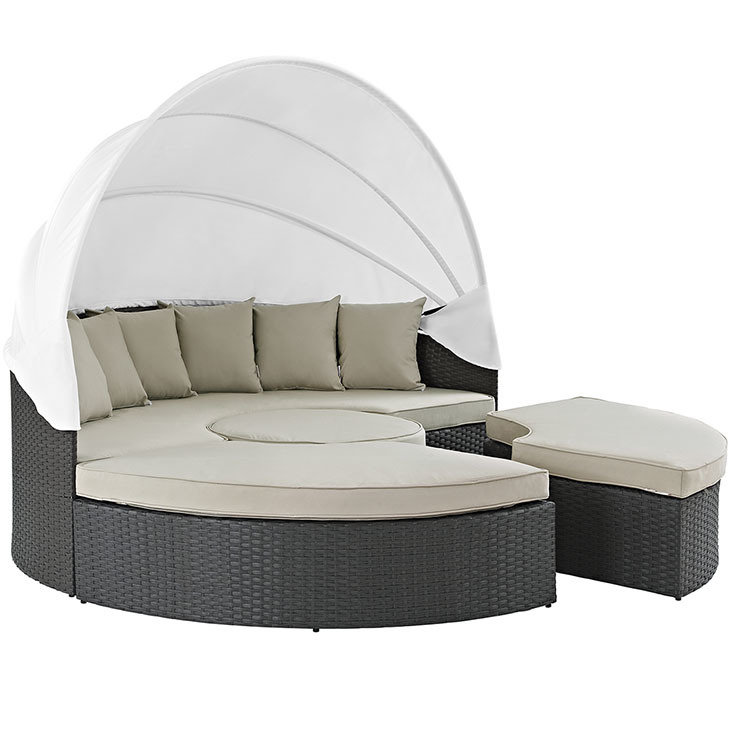 Soho Patio Canopy Daybed with Sunbrella® Cushion | 5 Colors