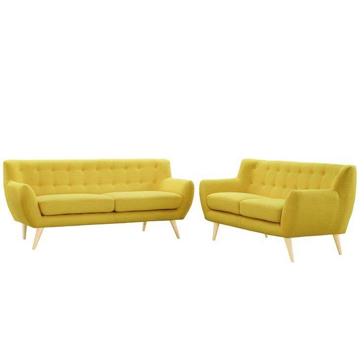 Grant Park Sofa & Loveseat Set /  4 Colors