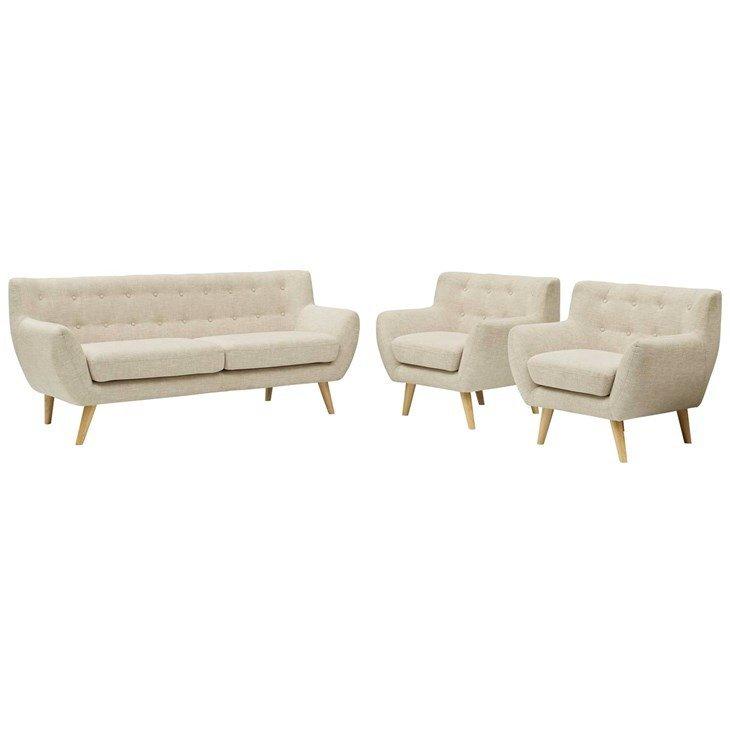 Grant Park Sofa & 2 Armchair Set    6 Colors