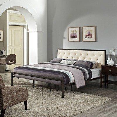 Madeline King Platform Bed   Gray or White