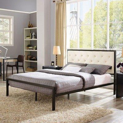 Madeline Queen Platform Bed   Gray or Beige