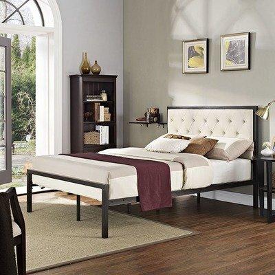 Madeline Full Platform Bed   Gray or Beige