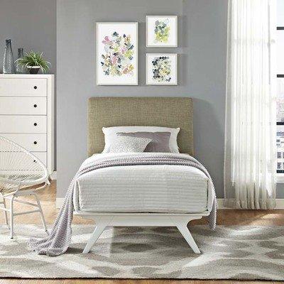 Julie Twin Platform Bed   White Frame   6 Colors