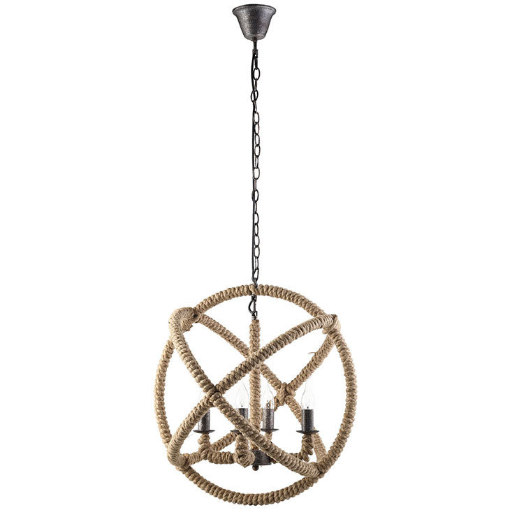 Intragal Rope and Steel Chandelier