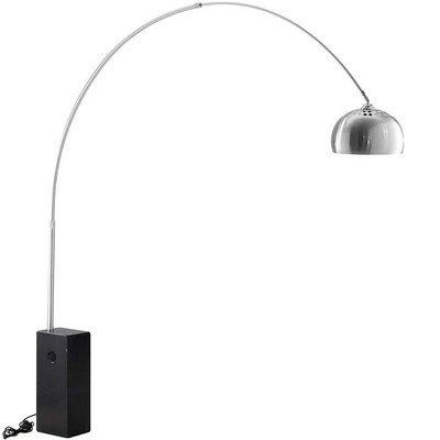 Willow Floor Lamp with Black Marble Cube Base