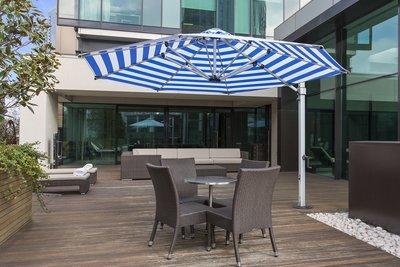 Aurora 11' Octagonal Premium Cantilever Umbrella