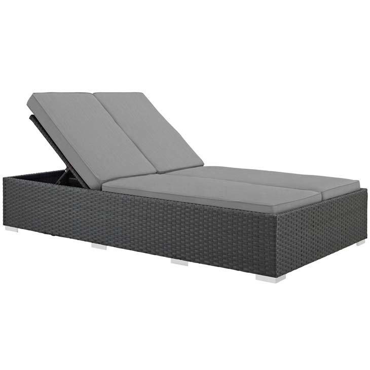 Soho Patio Double Chaise Lounge with Sunbrella® Cushion | 5 Colors