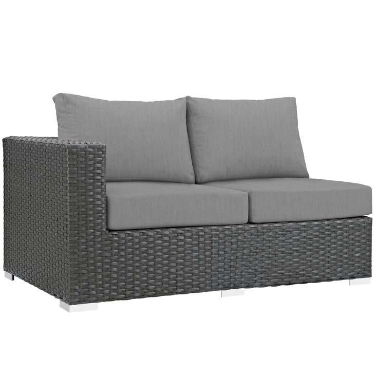 Soho Patio Left Arm Loveseat with Sunbrella® Cushion