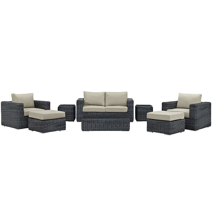 North Avenue Patio 8 Piece Conversation Set | with Sunbrella® Cushion