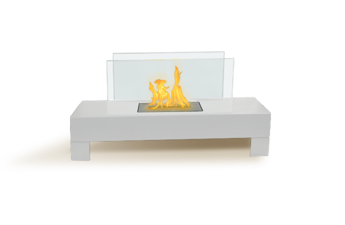 The Gramercy Fireplace | High Gloss White