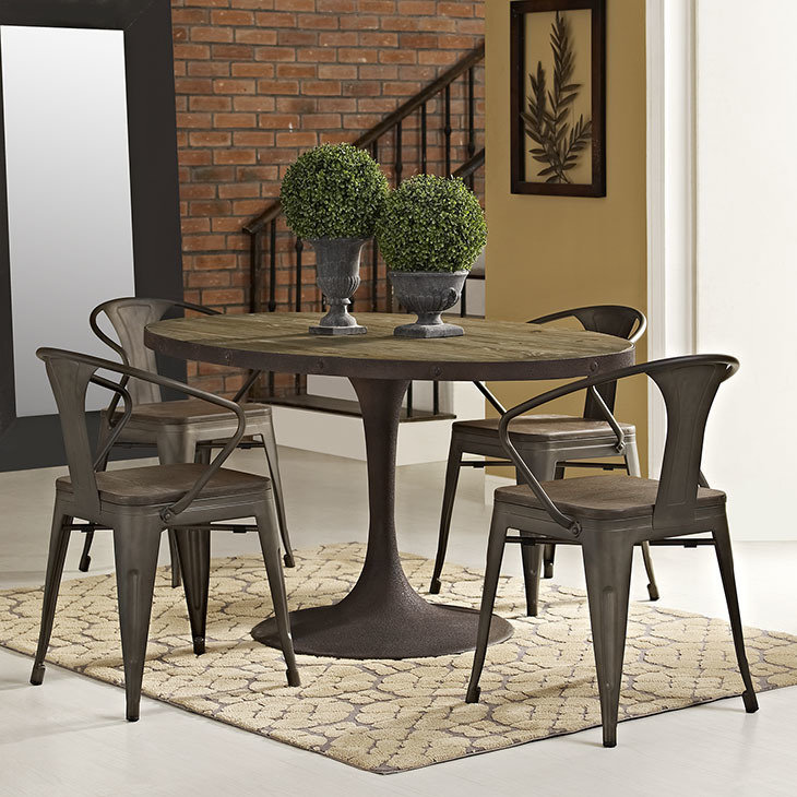 "Brickyard 60"" Oval Wood Dining Table"