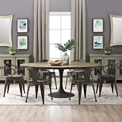 Brickyard Oval Wood Dining Table