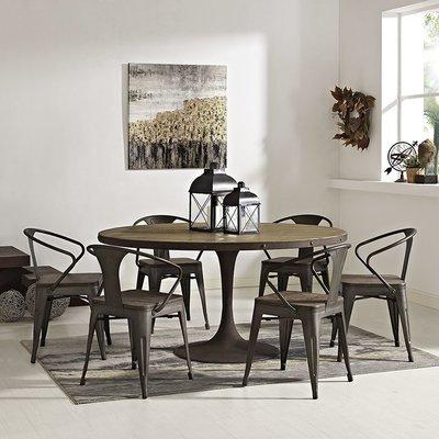 """Brickyard 60"""" Round Wood Dining Table"""