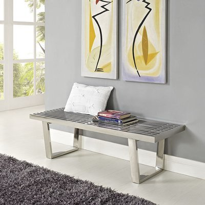 Salon Stainless Steel  Bench / 4' or 5'