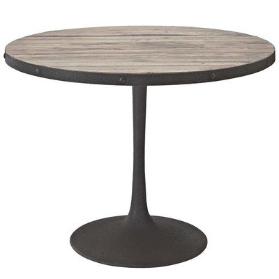 """Brickyard 40"""" Round Wood Dining Table   2 Color Options"""