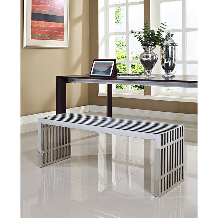 Gaines Stainless Steel Large Bench