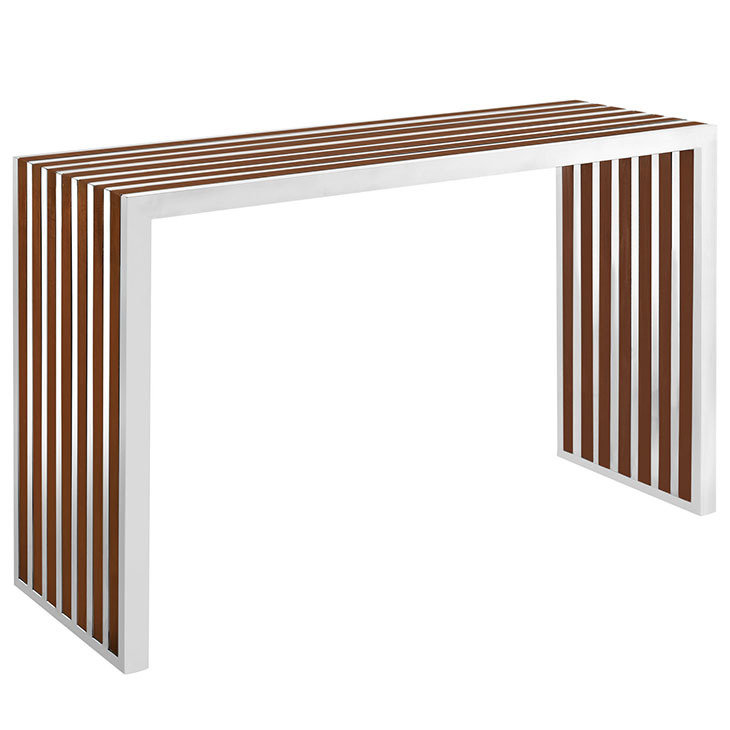Gaines Modern Wood Inlay Console Table