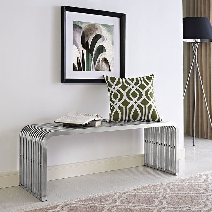 """Piper 47"""" Stainless Bench"""