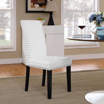 Duchess Vinyl Dining Chair | Black or White