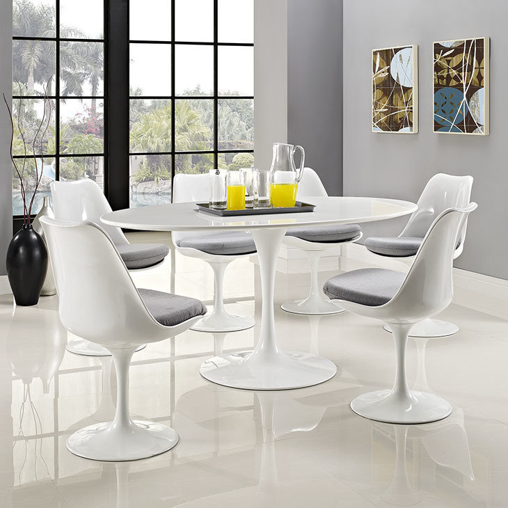 """Lila 60"""" White Dining Table"""