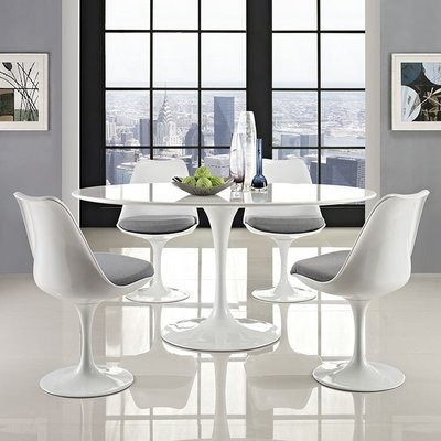 """Lila 60"""" Oval Wood Dining Table"""
