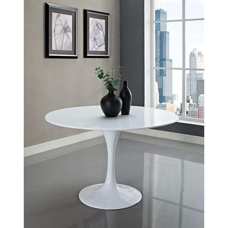"Lila 54"" Round Fiberglass Dining Table"