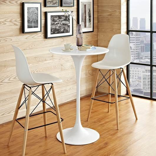 "Lila 28"" Round Wood Bar Table 
