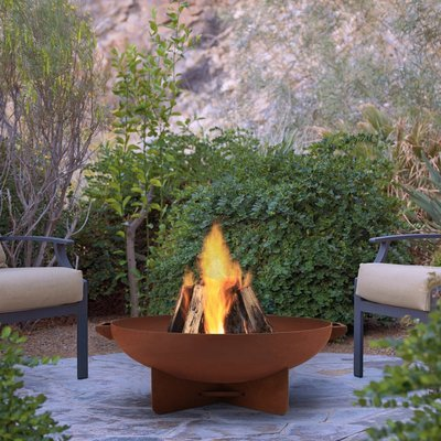 Anson Wood Burning Fire Bowl / Rust