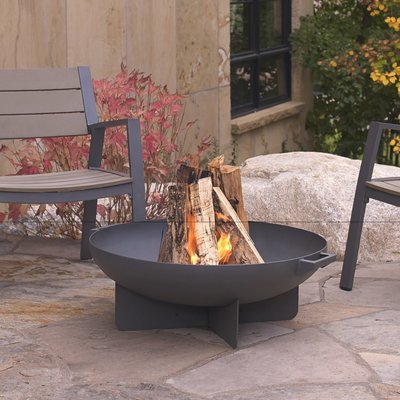 Anson Wood Burning Fire Bowl / Grey