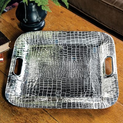 Croc Square Tray with Handles