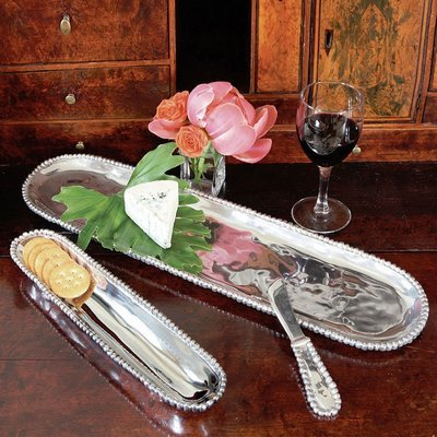 Organic Pearl  Baguette Tray / Set of Two