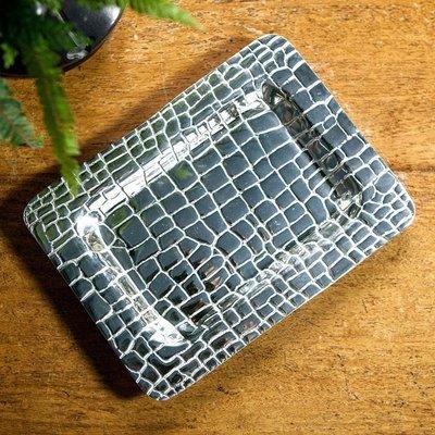 Croc Silver Tray