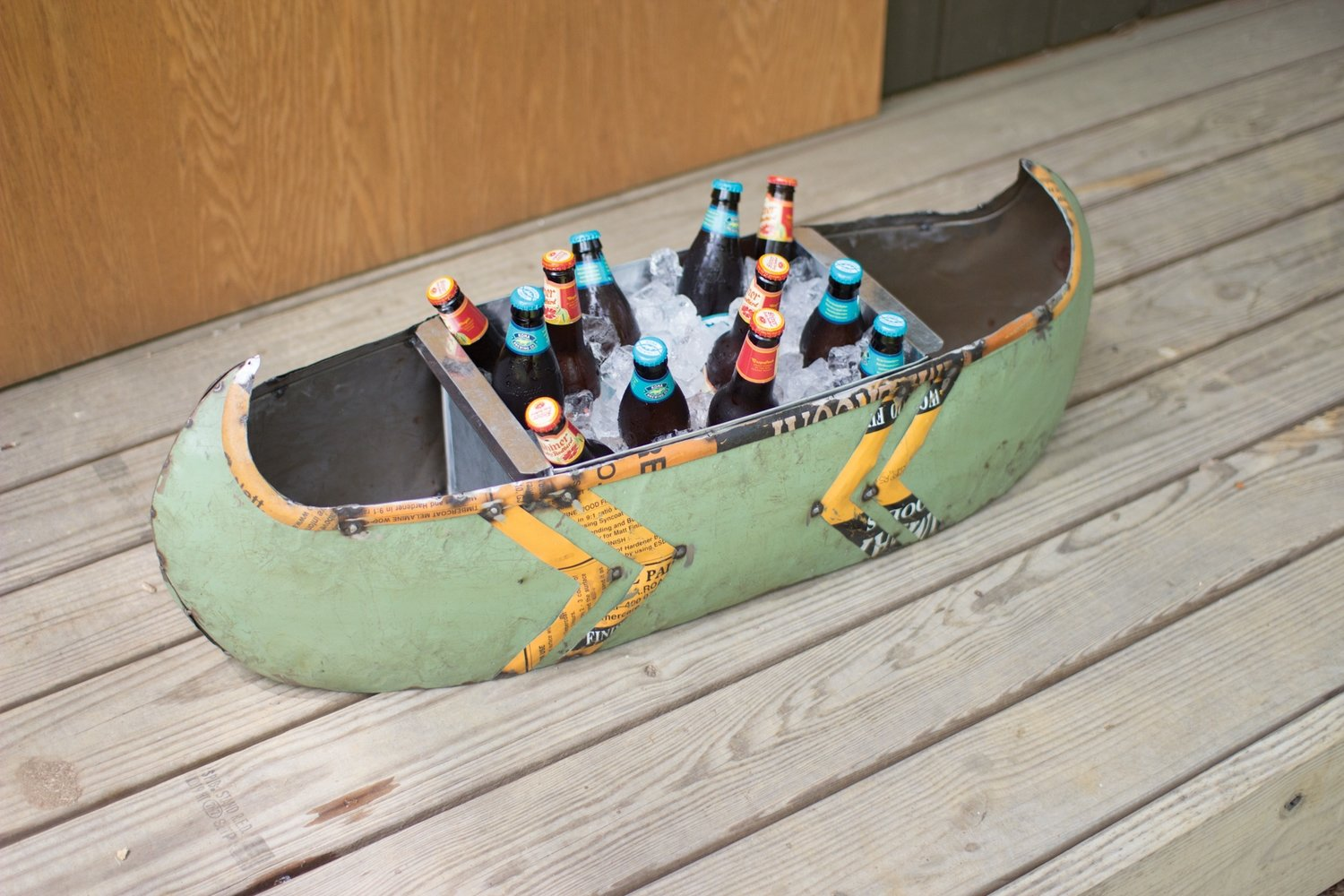 Recycled Metal Canoe Cooler / Planter