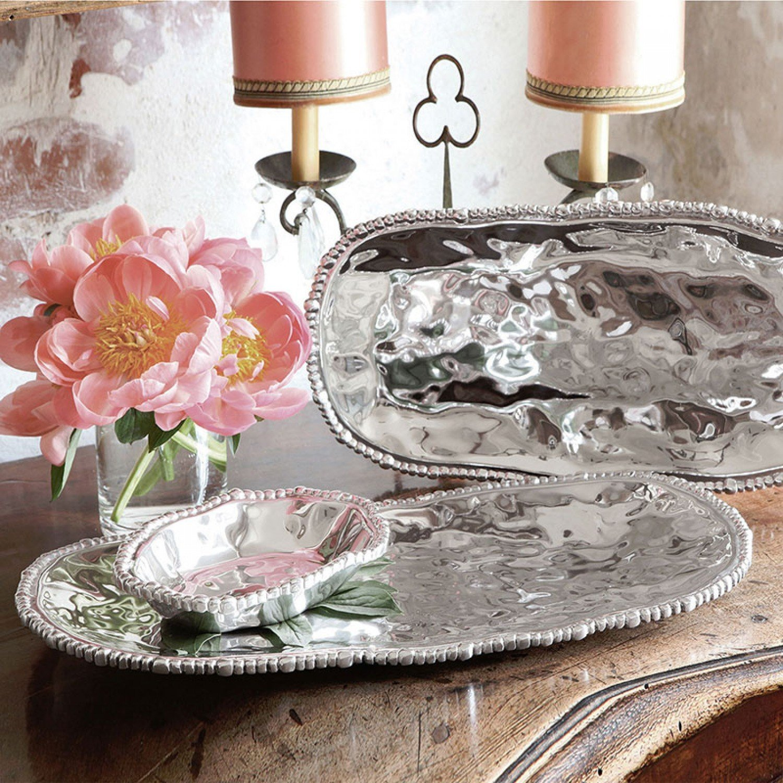 Organic Pearl Medium Oval Tray