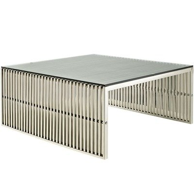 Gaines Coffee Table / Silver
