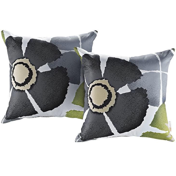 """Botanical 2 Piece Outdoor Pillow Set 17"""" x 17"""""""