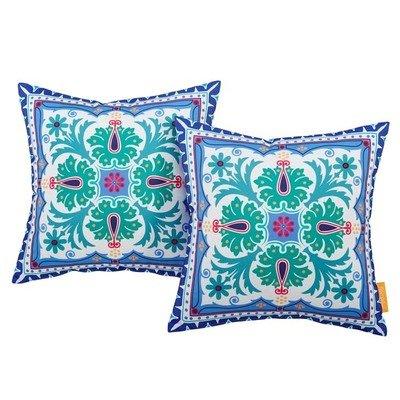 """Clover 2 Piece Outdoor Pillow Set 17"""" x 17"""""""
