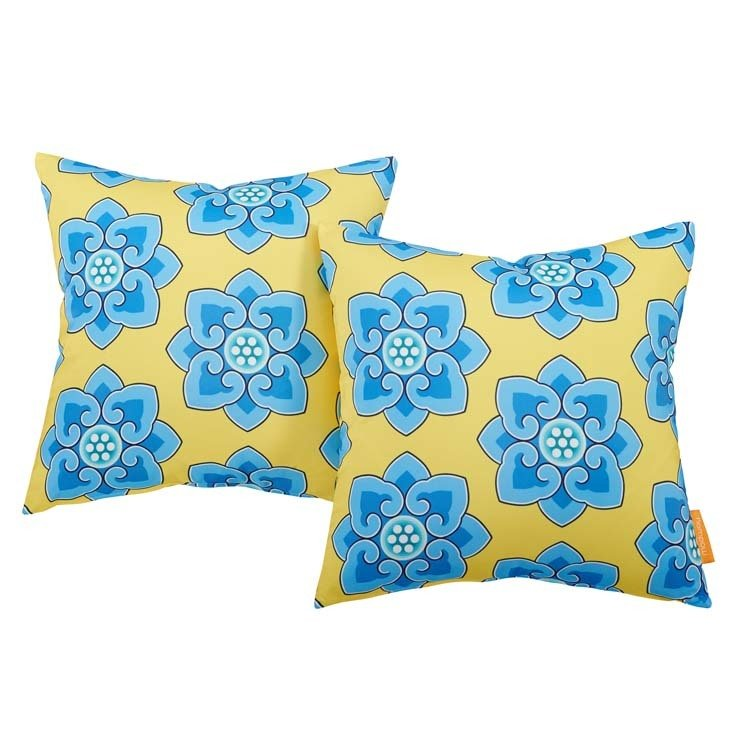 "Cornflower 2 Piece Outdoor Pillow Set 17"" x 17"""