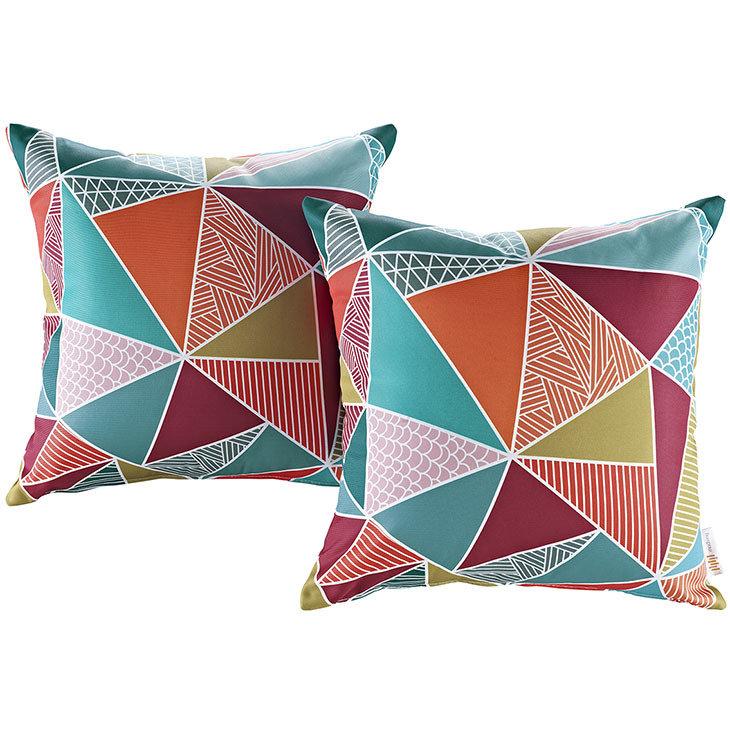 "Mosaic 2 Piece Outdoor Pillow Set 17"" x 17"""