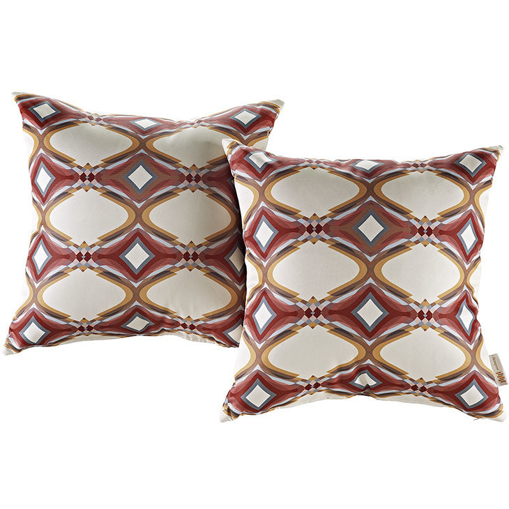 "Repeat 2 Piece Outdoor Pillow Set 17"" x 17"""