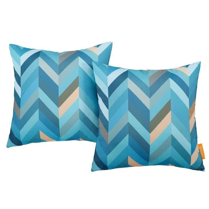 "Wave 2 Piece Outdoor Pillow Set 17"" x 17"""