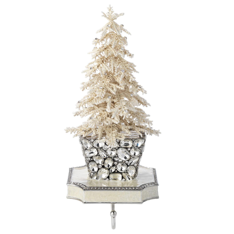 Olivia Riegel Flocked Crystal Tree Stocking Holder