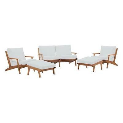 Gold Coast 5 Piece Teak Wood Patio Set
